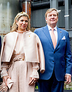 King Willem-Alexander and Queen Maxima of The Netherlands and Grand Duke Henri and Grand Duchess Maria Teresa visit the Luxemburg University and Campus Belval where they get an tour at the melting furnace in Luxembourg, 24 May 2018. The Dutch King and Queen are in Luxembourg for an three day state visit. Photo: robin Utrecht