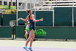 March 20, 2018 - Key Biscayne, FL, U.S. - KEY BISCAYNE, FL - MARCH 20: Kristyna Pliskova (CZE) competes during the qualifying round of the 2018 Miami Open on March 20, 2018, at Tennis Center at Crandon Park in Key Biscayne, FL. (Photo by Aaron Gilbert/Icon Sportswire) (Credit Image: © Aaron Gilbert/Icon SMI via ZUMA Press)