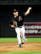 Jun. 18 2011; Phoenix, AZ, USA; Arizona Diamondbacks pitcher Zach Duke (19) delivers a pitch against the Chicago White Sox at Chase Field. The White Sox defeated the Diamondbacks 6-2. Mandatory Credit: Jennifer Stewart-US PRESSWIRE.