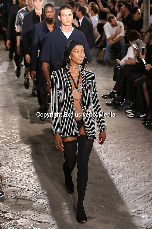 NAOMI CAMPBELL- GIVENCHY MEN FASHION SHOW , SPRING - SUMMER 2016 .<br /> &copy;Exclusivepix Media