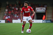 Bristol City defender Scott Golbourne (13)  during the EFL Cup match between Scunthorpe United and Bristol City at Glanford Park, Scunthorpe, England on 23 August 2016. Photo by Simon Davies.