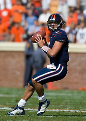 Virginia quarterback Marc Verica (6) in action against ECU.  The Virginia Cavaliers defeated the East Carolina Pirates 35-20 in NCAA football at Scott Stadium on the Grounds of the University of Virginia in Charlottesville, VA on October 11, 2008.