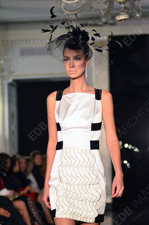 14.SEPTEMBER.2012. LONDON<br /> <br /> TURK JADALA CATWALK SHOW AT LONDON FASHION WEEK 2012<br /> <br /> BYLINE: EDBIMAGEARCHIVE.CO.UK/JOE ALVAREZ<br /> <br /> *THIS IMAGE IS STRICTLY FOR UK NEWSPAPERS AND MAGAZINES ONLY*<br /> *FOR WORLD WIDE SALES AND WEB USE PLEASE CONTACT EDBIMAGEARCHIVE - 0208 954 5968*