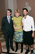 Anna Wintour and Marc Jacobs pose at 'The Model as  Muse: Embodying Fashion' Press conference at the Costume Institute in the Metropolitan Museum of Art  New York City, USA on May 4, 2009