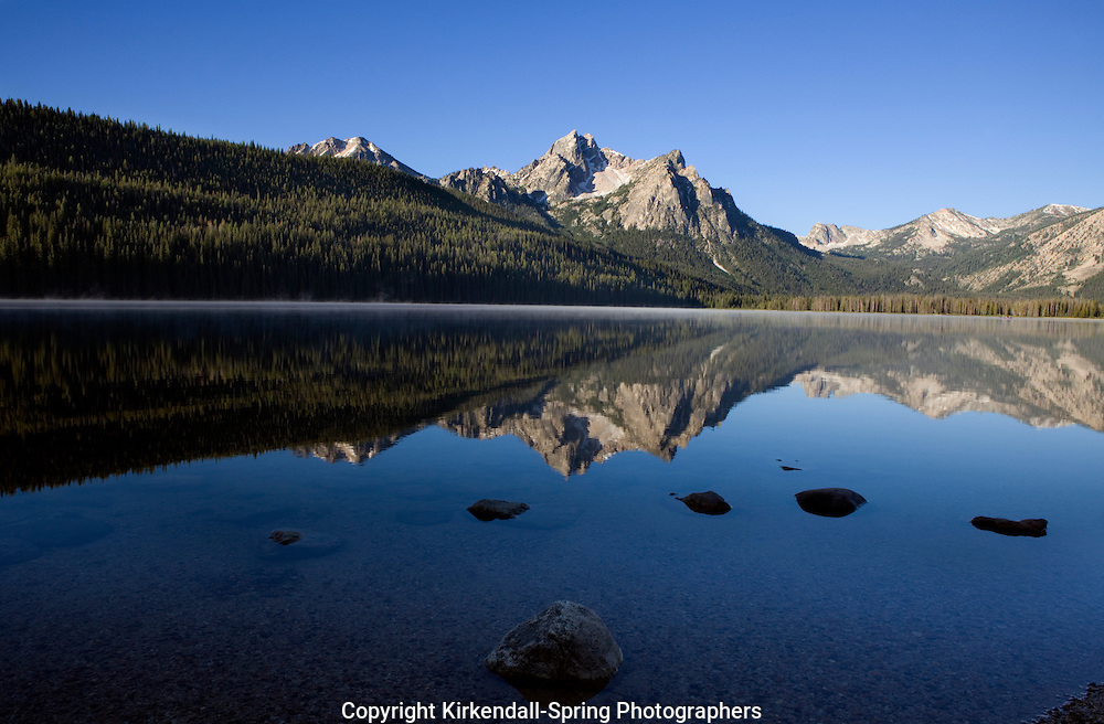 ID00062-00...IDAHO - Stanley Lake with Mount McGown in the background located in the Sawtooth National Recreation Area.