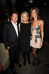 Left to right, MATTHEW FREUD, ELISABETH MURDOCH and HEATHER KERZNER at a dinner to celebrate the work of Malaria No More UK held at Hakkasan Mayfair, 17 Bruton Street, London W1 on 16th November 2010.
