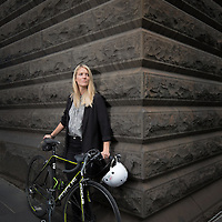 Sarah Diamond cycles to work in the city.<br /> Picture by Shannon Morris