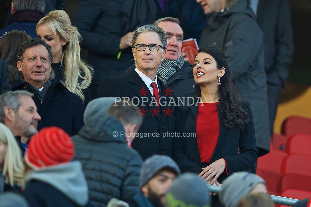 LIVERPOOL, ENGLAND - Saturday, November 26, 2016: Liverpool's owner John W. Henry and his wife Linda Pizzuti before the FA Premier League match against Sunderland at Anfield. (Pic by David Rawcliffe/Propaganda)