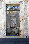 Weathered door in Cardenas, Matanzas, Cuba.