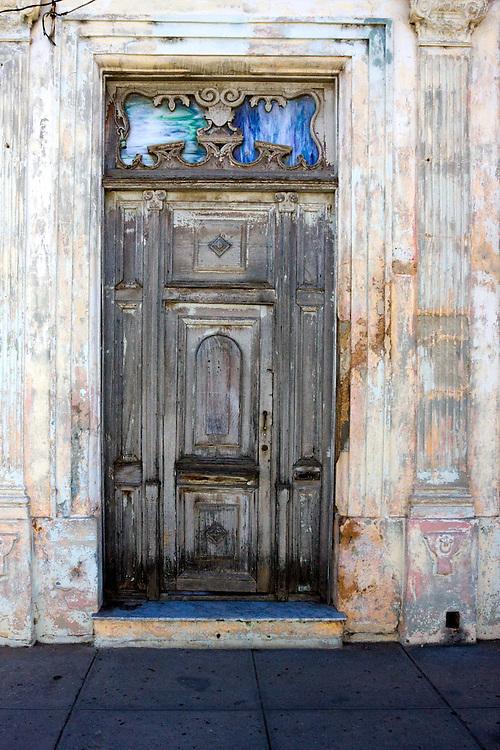 Weathered door in Cardenas, Matanzas, Cuba.