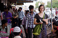 Jessica on the streets of Bhuj.