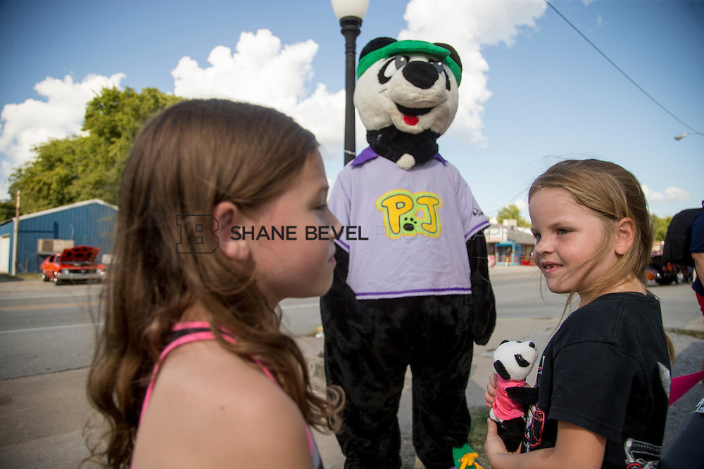 9/24/16 4:20:00 PM --  PJ Panda appears at a car show in Locust Grove for Children's Miracle Network. <br /> <br /> Photo by Shane Bevel
