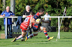 A last minute try from Giorgi Nemsadze of Bristol United wasn't enough to clinch the Aviva A League game against Gloucester United - Mandatory by-line: Paul Knight/JMP - 02/10/2016 - RUGBY - Hyde Park - Taunton, England - Bristol United v Gloucester United - Aviva A League