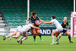 Zoe Bennion of Worcester Valkyries is gang tackled by Saracens Ladies  - Mandatory by-line: Craig Thomas/JMP - 30/09/2017 - RUGBY - Sixways Stadium - Worcester, England - Worcester Valkyries v Saracens Women - Tyrrells Premier 15s