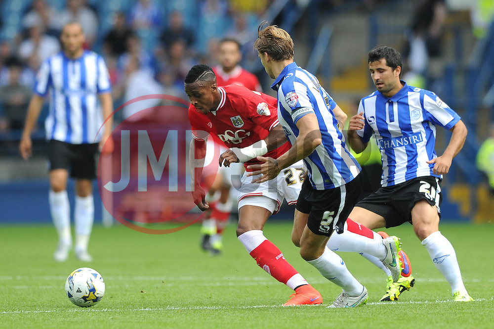 Jonathan Kodjia of Bristol City - Mandatory byline: Dougie Allward/JMP - 07966386802 - 08/08/2015 - FOOTBALL - Hillsborough Stadium -Sheffield,England - Sheffield Wednesday v Bristol City - Sky Bet Championship
