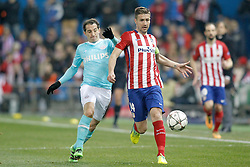 15-03-2016 ESP, UEFA CL, Atletico Madrid - PSV Eindhoven, Madrid<br /> Atletico de Madrid's Gabi Fernandez (r) and PSV Eindhoven's Andres Guardado // during the UEFA Champions League Round of 16, 2nd Leg match between Atletico Madrid and PSV Eindhoven at the Estadio Vicente Calderon in Madrid, Spain on 2016/03/15. <br /> <br /> ***NETHERLANDS ONLY***