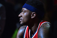 Apr 1, 2016; Phoenix, AZ, USA; Washington Wizards guard Bradley Beal (3) looks on during a time out in the first half of the game against the Phoenix Suns at Talking Stick Resort Arena. Mandatory Credit: Jennifer Stewart-USA TODAY Sports