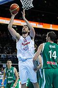DESCRIZIONE : Kaunas Lithuania Lituania Eurobasket Men 2011 Quarter Final Round Spagna Slovenia Spain Slovenia<br /> GIOCATORE : Marc Gasol<br /> CATEGORIA : tiro penetrazione<br /> SQUADRA : Spagna Slovenia Spain Slovenia<br /> EVENTO : Eurobasket Men 2011<br /> GARA : Spagna Slovenia Spain Slovenia<br /> DATA : 14/09/2011<br /> SPORT : Pallacanestro <br /> AUTORE : Agenzia Ciamillo-Castoria/M.Metlas<br /> Galleria : Eurobasket Men 2011<br /> Fotonotizia : Kaunas Lithuania Lituania Eurobasket Men 2011 Quarter Final Round Spagna Slovenia Spain Slovenia<br /> Predefinita :