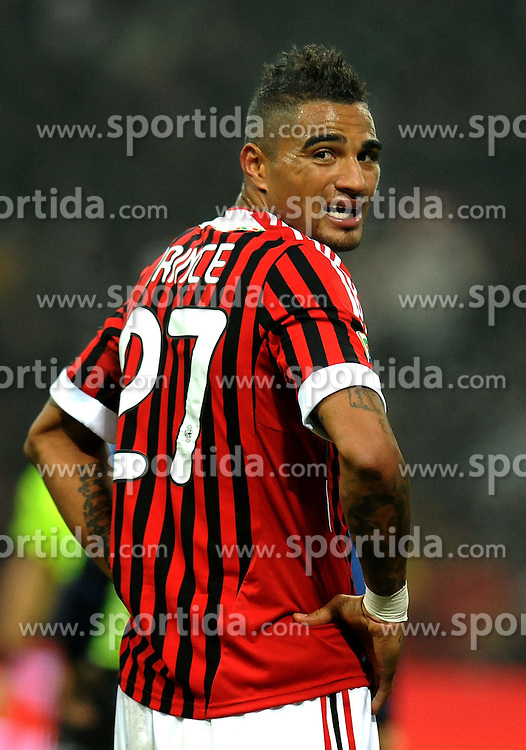 15.01.2012, Stadion Giuseppe Meazza, Mailand, ITA, Serie A, AC Mailand vs Inter Mailand, 18. Spieltag, im Bild Kevin Prince Boateng Milan // the football match of Italian 'Serie A' league, 18th round, between AC Mailand and Inter Mailand at Stadium Giuseppe Meazza, Milan, Italy on 2012/01/15. EXPA Pictures © 2012, PhotoCredit: EXPA/ Insidefoto/ Alessandro Sabattini..***** ATTENTION - for AUT, SLO, CRO, SRB, SUI and SWE only *****