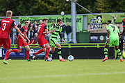 Forest Green Rovers Christian Doidge(9) runs with the ball during the Vanarama National League match between Forest Green Rovers and Barrow at the New Lawn, Forest Green, United Kingdom on 1 October 2016. Photo by Shane Healey.