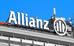 THEMENNBILD, Wien Österreich, Allianz SE ist ein deutscher Finanzierungsdienstleistungs- und Versicherungskonzern mit Sitz in Muenchen, Deutschland. im Bild ein Schriftzug der Allianz SE. //THEME IMAGE, FEATURE, Allianz SE is a German multinational financial services and insurance company headquartered in Munich, Germany. picture shows the logo of the Allianz SE, Vienna, Austria on 2012/09/11 EXPA Pictures © 2012, PhotoCredit: EXPA/ Sebastian Pucher