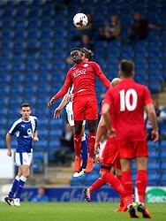 Liandre Martis of Leicester City wins a header - Mandatory by-line: Matt McNulty/JMP - 02/08/2016 - FOOTBALL - Pro Act Stadium - Chesterfield, England - Chesterfield v Leicester City - Pre-season friendly