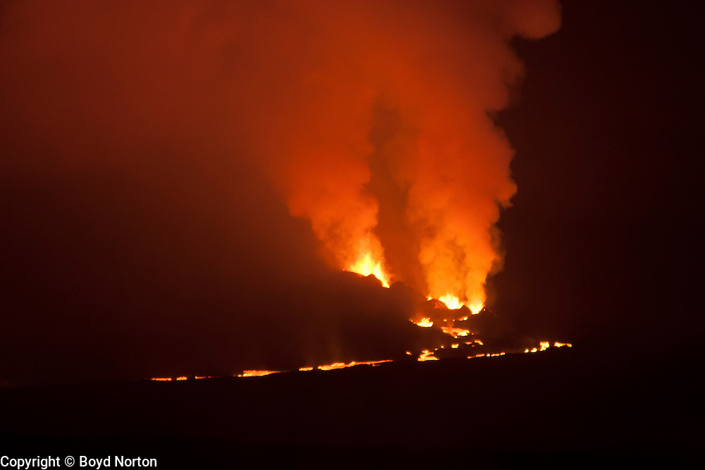 Eruption of Fernandina Volcano, Galapagos Islands National Park. 2009.