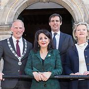 NLD/Naarden/20190419 - Matthaus-Passion in de grote kerk van Naarden, Khadija Arib, Ankie Broekers-Knol, Burgemeester van Naarden en Wopke Hoekstra