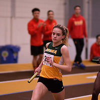 Kelsey Haczkewicz in action during the 2018 Canada West Track & Field Championship on February  23 at James Daly Fieldhouse. Credit: Arthur Ward/Arthur Images