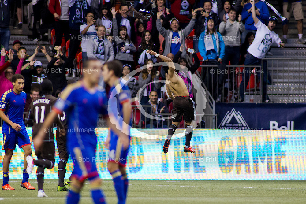 27 October 2013:   Action during a game between Vancouver Whitecaps FC and Colorado Rapids on Bell Pitch at BC Place Stadium in Vancouver, BC, Canada. Final Score: Vancouver  - Colorado   ****(Photo by Bob Frid - Vancouver Whitecaps 2013 - All Rights Reserved)***