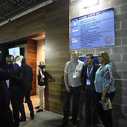 Frank Lampard, (center), NYCFC, poses for pictures outside the team dressing rooms after the New York City FC Vs New York Red Bulls, MSL regular season football match at Yankee Stadium, The Bronx, New York,  USA. 28th June 2015. Photo Tim Clayton