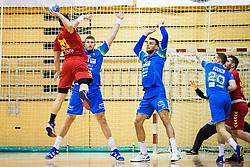 Blagotinsek Blaz of Slovenia and Mackovsek Borut of Slovenia during friendly handball match between national teams Slovenia and Montenegro on 4th Januar, 2020, Trbovlje, Slovenia. Photo By Grega Valancic / Sportida