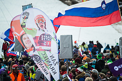 KRANJEC Zan fans during the Audi FIS Alpine Ski World Cup Men's Slalom 58th Vitranc Cup 2019 on March 10, 2019 in Podkoren, Kranjska Gora, Slovenia. Photo by Peter Podobnik / Sportida