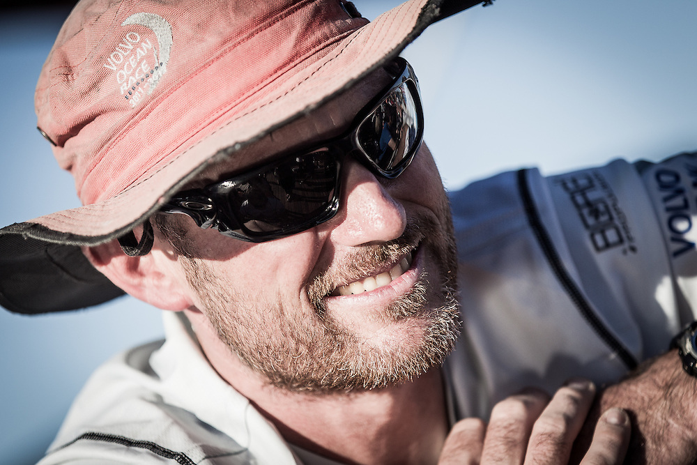 BRAZIL, Itajai. 6th April 2012. Volvo Ocean Race. Tom Addis, Navigator, Puma Ocean Racing Powered by BERG.