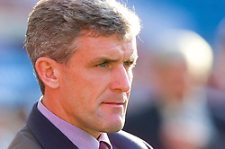 OSLO, NORWAY - Wednesday, September 5, 2001: Wales' manager Mark Hughes during the FIFA World Cup 2002 Qualifying Group 5 match against Norway at the Ullevaal Stadion. (Pic by David Rawcliffe/Propaganda)