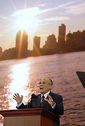 September 3, 2008- Former New York Mayor Rudolph Giuliani on day 3 of the 2008 Republican National Convention at the Excel Center in St. Paul, Minnesota.