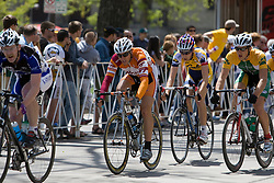 Steven Gordon (Virginia Polytechnic University) is up front blocking for his escaped teammate Ben King (Virginia Polytechnic University).  The 2008 USA Cycling Collegiate National Championships Road Race men's division 2 event was held near Fort Collins, CO on May 9, 2008.