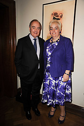 LORD PALUMBO OF WALBROOK and SOPHIE ANDREWS Chairman of The Samaritans at a reception to launch the Chad Varah Appeal held at The Foundling Museum, 40 Brunswick Square, London on 11th May 2010.