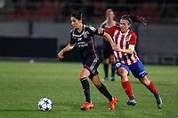 Atletico de Madrid´s Meseguer and Olympique Lyonnais´s Necib during UEFA Women´s Champions League soccer match between Atletico de Madrid and Olympique Lyonnais, in Madrid, Spain. November 11, 2015. (ALTERPHOTOS/Victor Blanco)