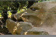 Stone eroded to look like a whale or fish head. The Giants of Kerzerho