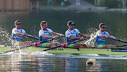 Marko Grace, Gasper Fistravec, Rok Kolander and Jure Grace in category M4- (Coxless four)during rowing at Slovenian National Championship and farewell of Iztok Cop, on September 22, 2012 at Lake Bled, Ljubljana Slovenia. (Photo By Matic Klansek Velej / Sportida)