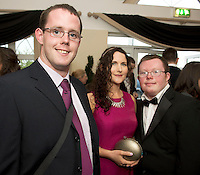 John Farraher, Tuam , Claire Quigley, Galway City and Andrew Quinn Ardrahan at the Ability West Best Buddy Ball and award night at the Menlo Park Hotel Galway. Photo:Andrew Downes.