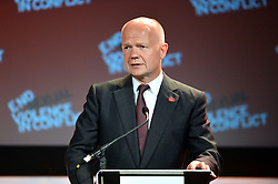 Image ©Licensed to i-Images Picture Agency. 11/06/2014.<br /> <br /> William Hague speaks at the Global Summit to End Sexual Violence in Conflict at The ExCel, London, UK.<br /> <br /> Picture by Ben Stevens / i-Images