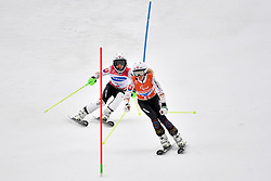 FARKASOVA Henrieta B3 SVK Guide: SUBRTOVA Natalia competing in the ParaSkiAlpin, Para Alpine Skiing, Slalom at the PyeongChang2018 Winter Paralympic Games, South Korea.