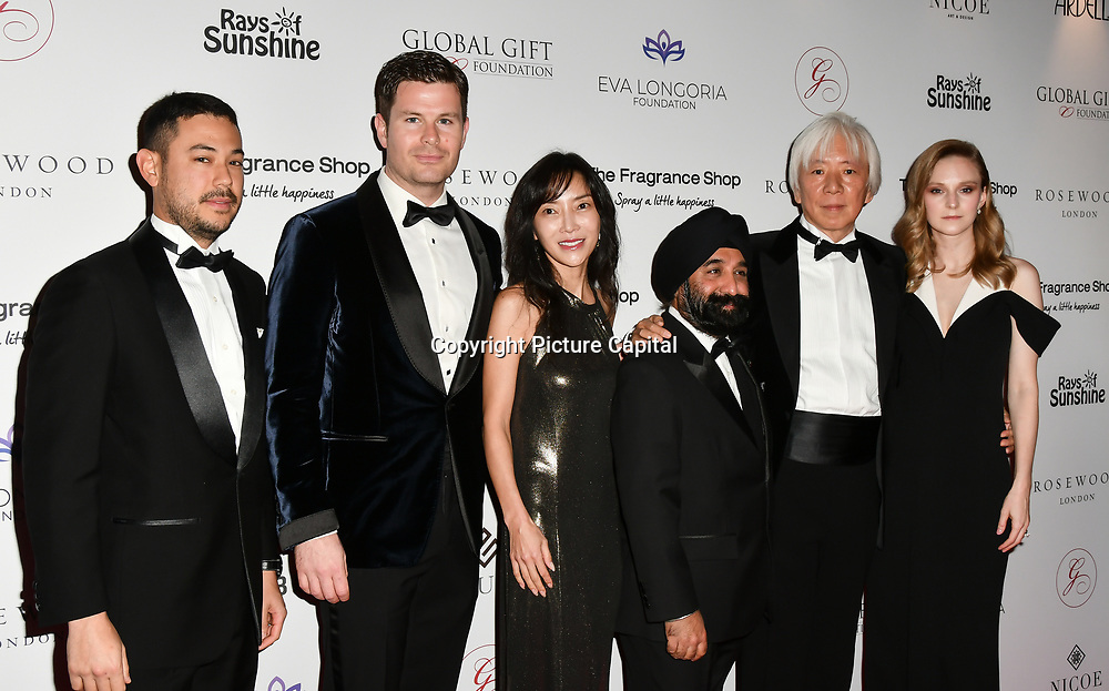 Sponsor the Pibble teams Arrivers at The Global Gift Gala red carpet - Eva Longoria hosts annual fundraiser in aid of Rays Of Sunshine, Eva Longoria Foundation and Global Gift Foundation on 2 November 2018 at The Rosewood Hotel, London, UK. Credit: Picture Capital