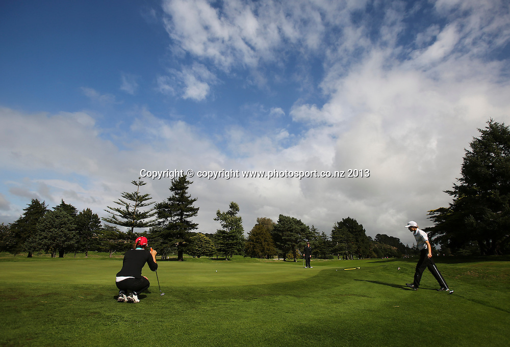 Day 2 of the 2013 New Zealand Amateur Championship, Manawatu Golf Club, Palmerston North, New Zealand. Thursday 25 April 2013. Photo: John Cowpland / photosport.co.nz