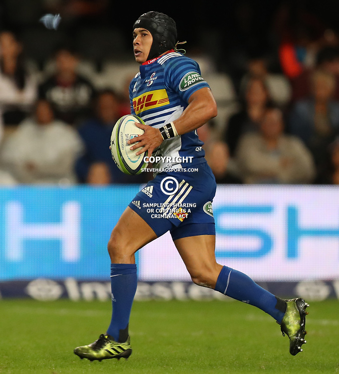 DURBAN, SOUTH AFRICA - MAY 27: Cheslin Kolbe of the DHL Stormers during the Super Rugby match between Cell C Sharks and DHL Stormers at Growthpoint Kings Park on May 27, 2017 in Durban, South Africa. (Photo by Steve Haag/Gallo Images)