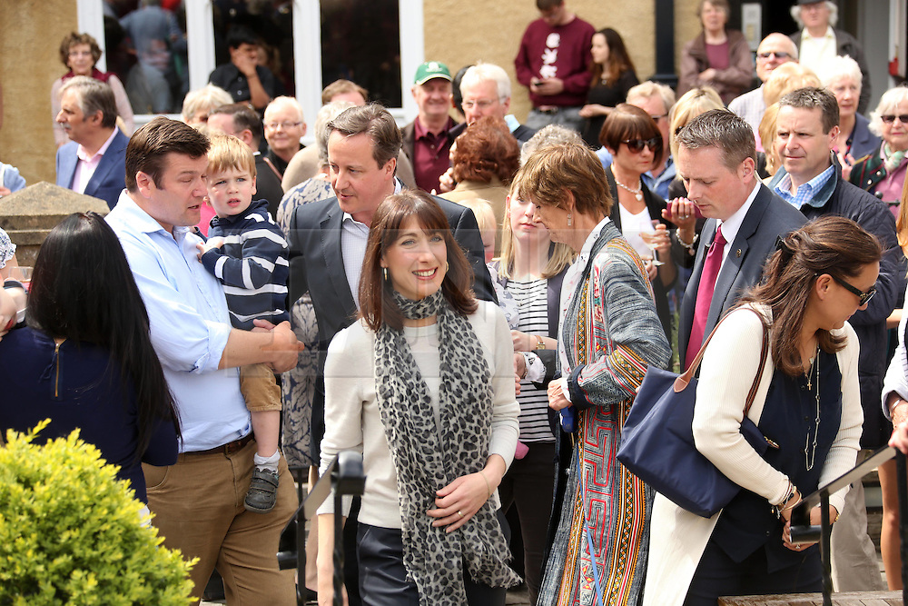© Licensed to London News Pictures. 04/05/2015. Wells, UK © Licensed to London News Pictures. 04/05/2015. Wells, UK. David Cameron and his wife Samantha visiting Wells, Somerset, today 4th May 2015. Photo credit : Jason Bryant/LNP. Photo credit : Jason Bryant/LNP