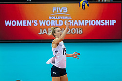 14-10-2018 JPN: World Championship Volleyball Women day 15, Nagoya<br /> China - United States of America 3-2 / Kimberly Hill #15 of USA