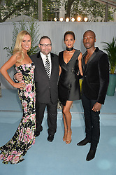 Left to right, AMANDA HOLDEN, JONATHAN SHALIT, ALESHA DIXON and AZUKA ONONYE at the Glamour Magazine Women of the Year Awards in association with Next held in the Berkeley Square Gardens, London on 7th June 2016.